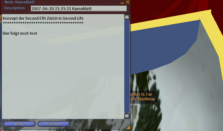 ETH-Notiz in Second Life: hier folgt noch text