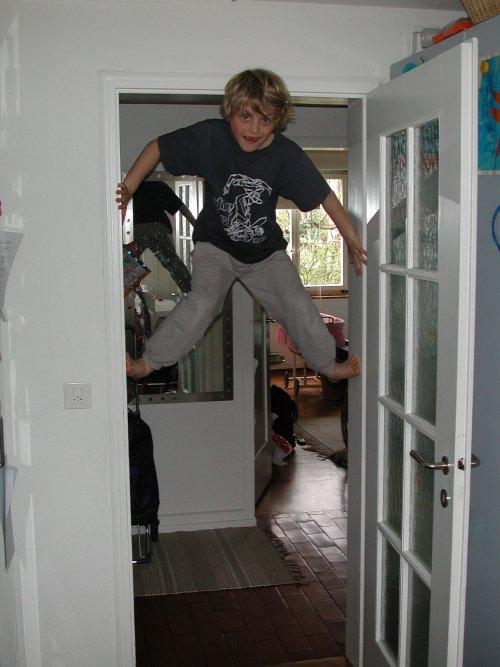 Jan klettert