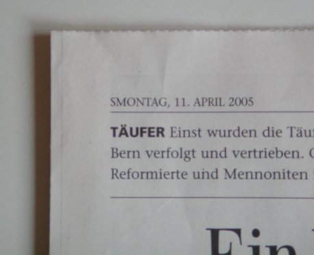 Der Bund: SMontag, 11. April 2005